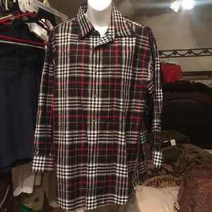 Enro Non Iron Button Up Shirt XL XLL